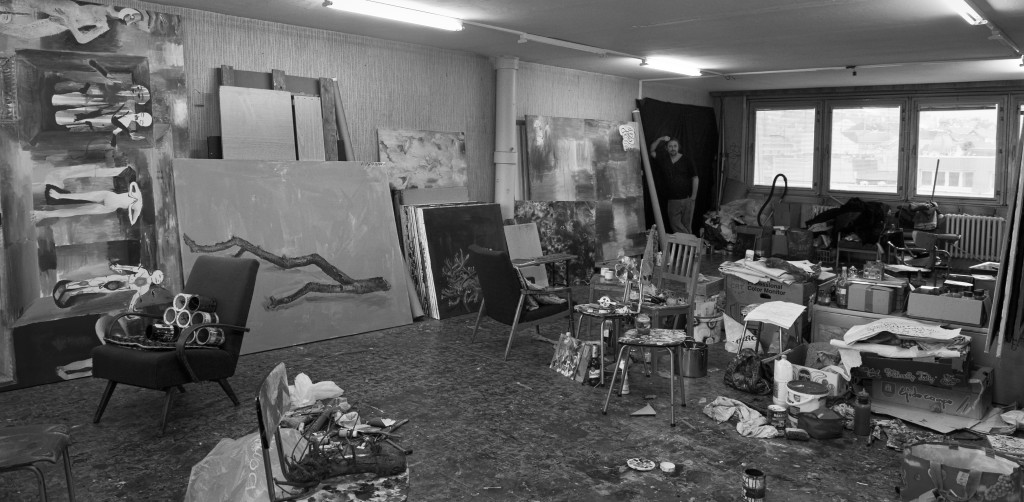 Martin Mainer in his studio at Žižkov